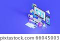 Shopping on-line. Online store on website or mobile application. 3d rendering background. digital marketing shop concept. 66045003