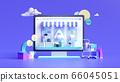 Shopping on-line. Online store on website or mobile application. 3d rendering background. digital marketing shop concept. 66045051