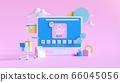 Shopping on-line. Online store on website or mobile application. 3d rendering background. digital marketing shop concept. 66045056