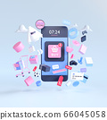 Shopping on-line. Online store on website or mobile application. 3d rendering background. digital marketing shop concept. 66045058