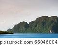 Wide view of Koh Lanta bay in Krabi, Thailand 66046004