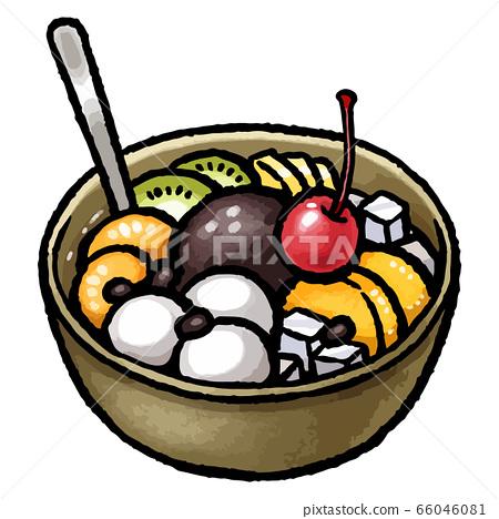 Fruit white ball anmitsu 66046081
