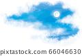 夜晚的天空中的满月矢量插画 66046630