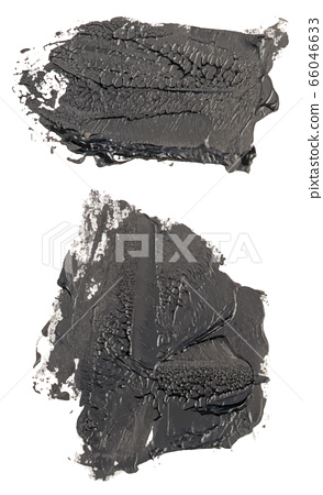hand drawn isolated paintbrush spots with dirty 66046633