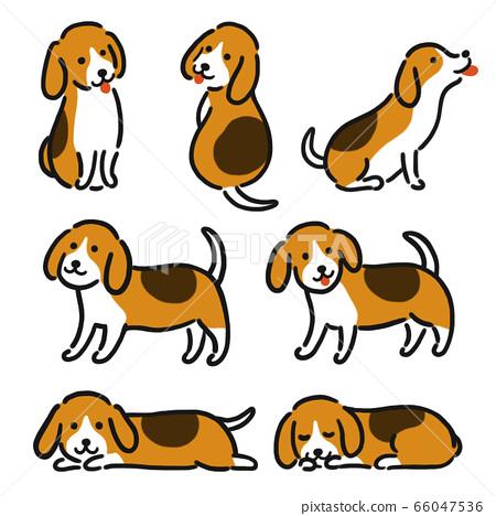 小獵犬可愛的插圖 66047536