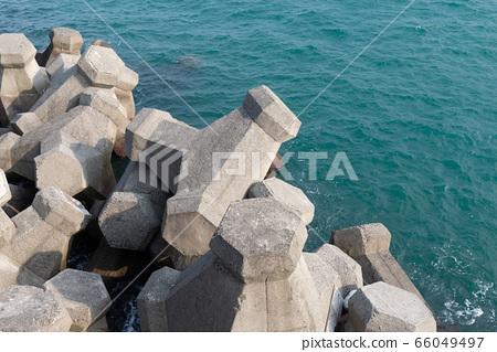 消波塊 海岸 堤岸 水泥塊 66049497