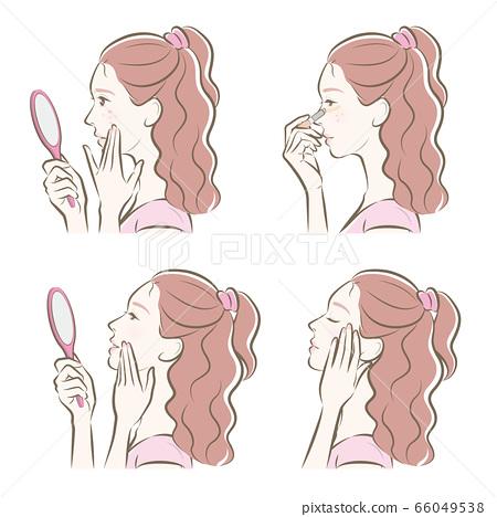 做護膚的婦女的例證 66049538