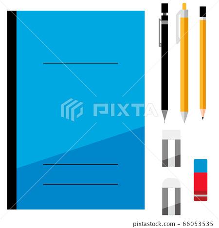 筆記本,自動鉛筆,圓珠筆,鉛筆,橡皮擦,文具,套裝 66053535