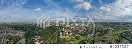 Aerial panoramic photo of Bedzin city and Bedzin 66057587