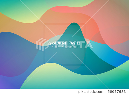 Abstract colorful fluid element artwork pattern of trendy style background.  66057688