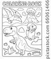 Coloring book dinosaur subject image 9 66061466