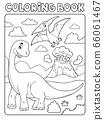 Coloring book dinosaur subject image 8 66061467