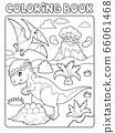 Coloring book dinosaur subject image 7 66061468