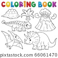 Coloring book dinosaur subject image 5 66061470