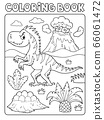 Coloring book dinosaur composition image 4 66061472