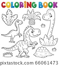 Coloring book dinosaur composition image 3 66061473