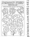 Activity sheet butterfly theme maze 66061481