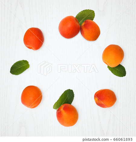 Fresh apricots on table. 66061893