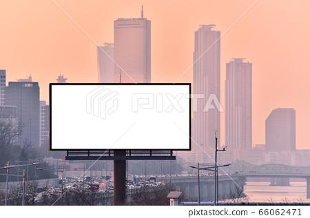 옥외 광고판 목업 배경화면 66062471
