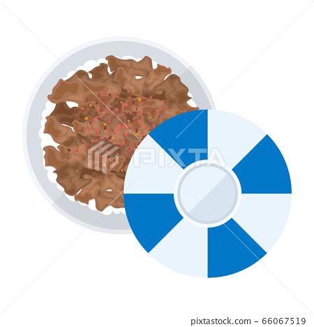 牛肉碗的插圖 66067519