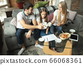 Mother, father and daughter at home having fun, comfort and cozy concept 66068361