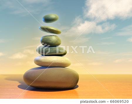 Floating meditation stones 66069520