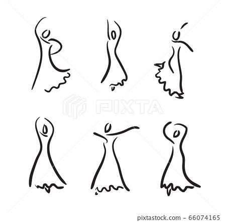 Flamenco dancer. 66074165