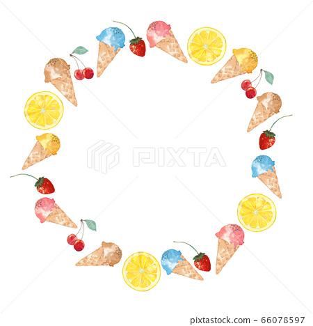 冰淇淋和水果架 66078597
