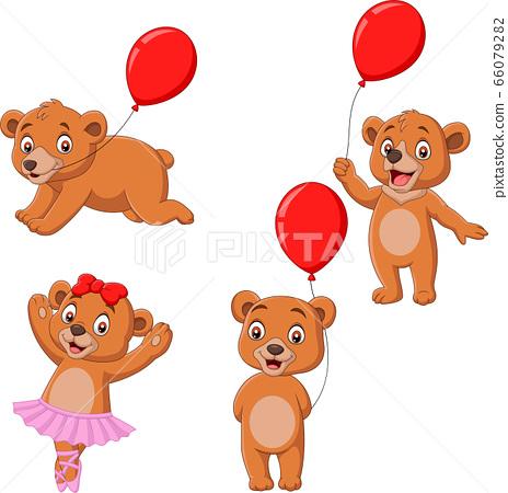 Cartoon little bears collection set 66079282