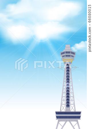 Osaka Tsutenkaku sky background 66080015