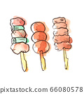 Summer illustration: yakitori 66080578