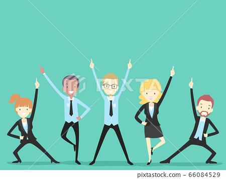 People Office Icebreaker Team Cheer Illustration 66084529