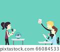 People Office Icebreaker Card Game Illustration 66084533