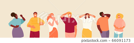 Laughing group of people vector 66091173