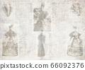 Old magazine fashion news newspaper paper grunge texture art collage background 66092376