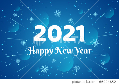 Happy New Year 2020 - vector greeting card 66094852