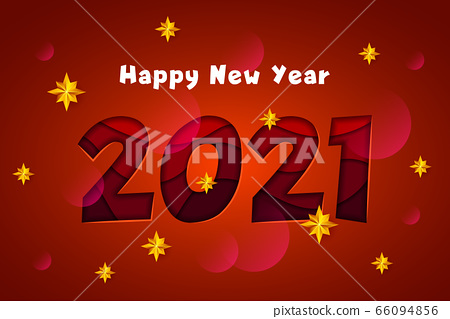 Happy New Year 2020 - vector greeting card 66094856