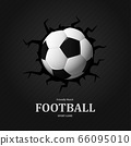 Football cracked in wall soccer ball , Sport Game 66095010