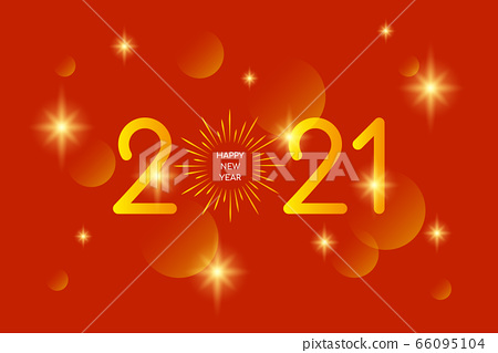 Happy New Year 2020 - vector greeting card 66095104