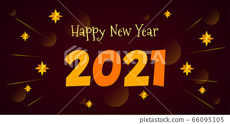 Happy New Year 2020 - vector greeting card 66095105