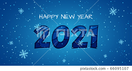 Happy New Year 2020 - vector greeting card 66095107