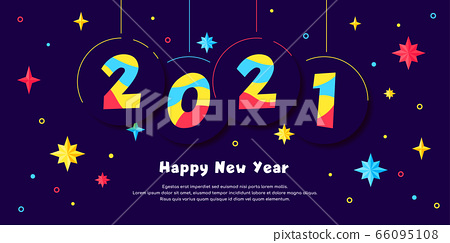Happy New Year 2020 - vector greeting card 66095108
