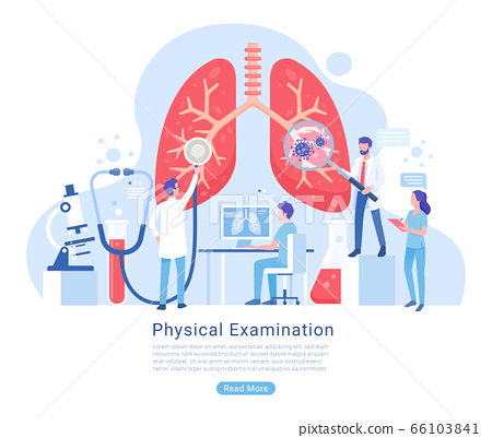 Physical and Respiratory system examination and 66103841