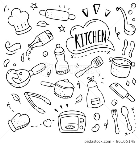 cooking doodle illustration. Doodle design concept 66105148