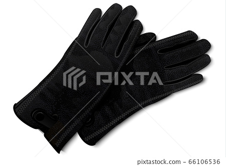 Leather gloves icon, realistic style 66106536