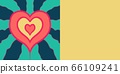 The design of an invitation or flyer for a wedding party with a hand-drawn heart radiating energy 66109241