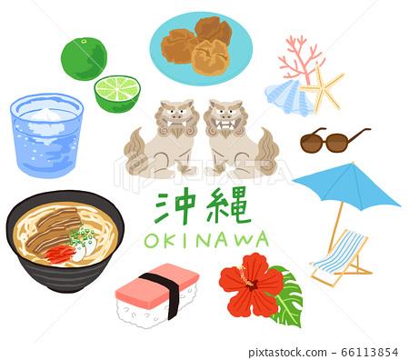 Set of Okinawan foods and specialties 66113854