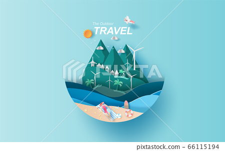 illustration of travel in holiday vacation summer 66115194