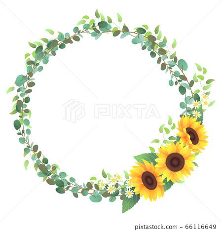 向日葵裝飾框(圓形)03 66116649