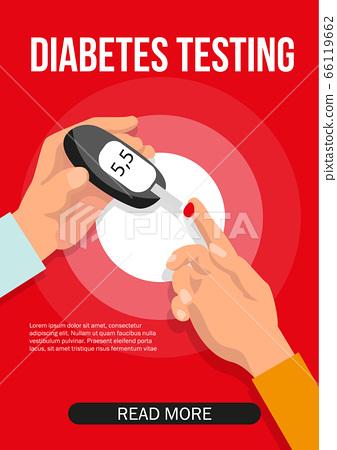 Diabetes glucose monitoring. Doctor testing blood 66119662